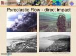 pyroclastic flow direct impact