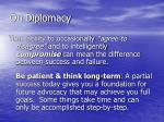 on diplomacy