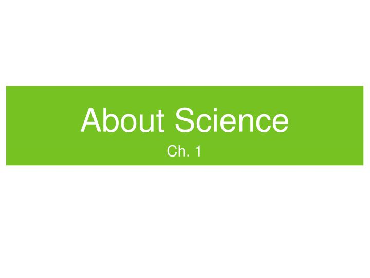 about science n.