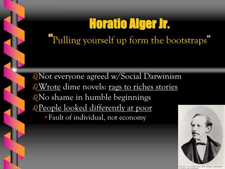 myth of individual opportunity horatio alger