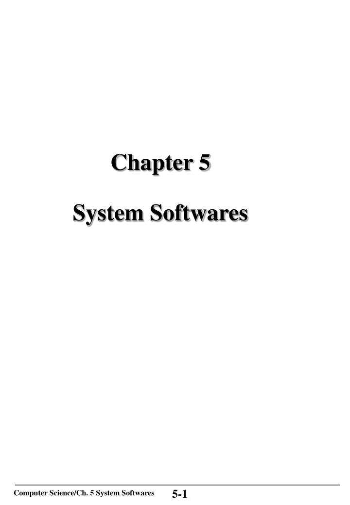 chapter 5 system softwares n.