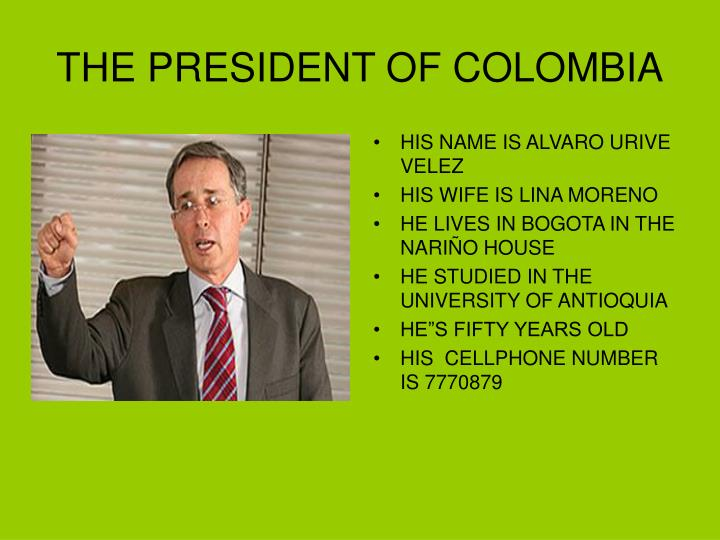 the president of colombia n.