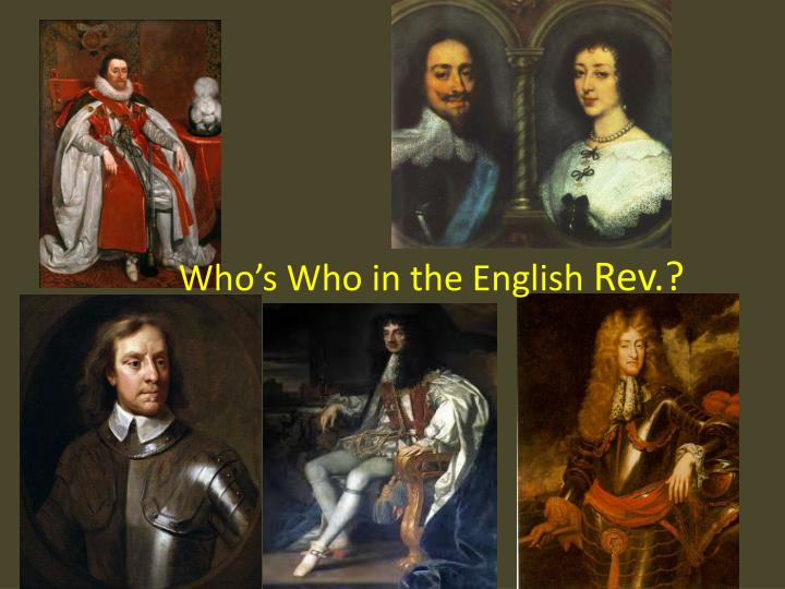 who s who in the english rev n.