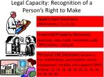 legal capacity recognition of a person s right to make