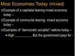 most economies today mixed
