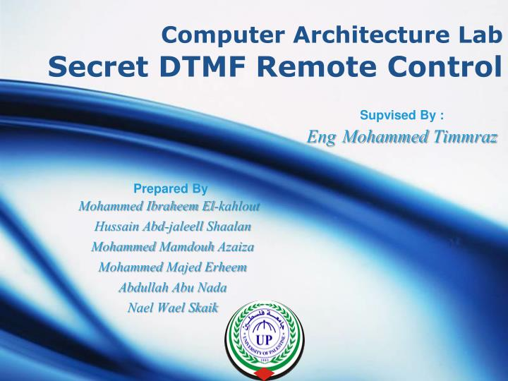 computer architecture lab secret dtmf remote control n.
