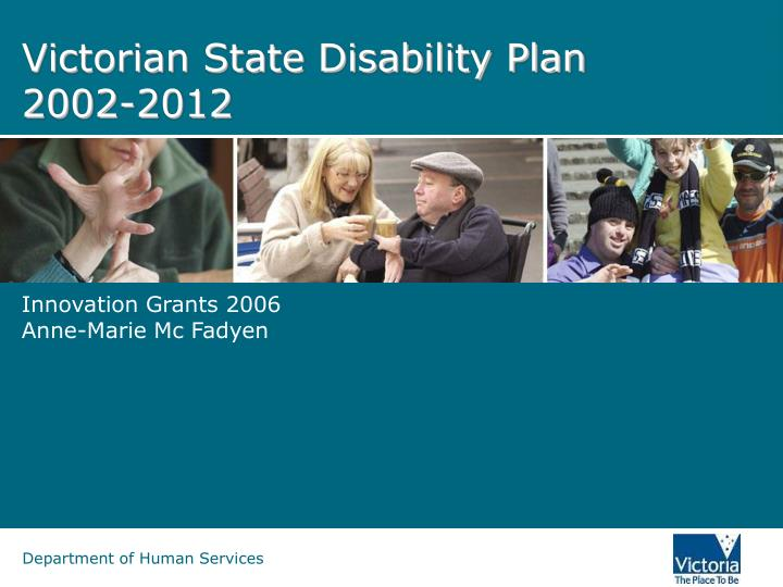 victorian state disability plan 2002 2012 n.