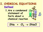 i chemical equations