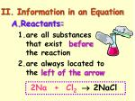 ii information in an equation