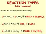 reaction types double replacement6