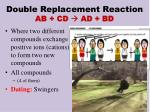 double replacement reaction ab cd ad bd