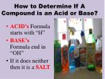 how to determine if a compound is an acid or base