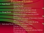 function of leaders