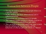 transaction between people