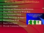 ways to motivate subordinates