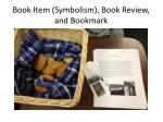 book item symbolism book review and bookmark