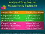 analytical procedures for manufacturing equipment1