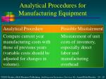analytical procedures for manufacturing equipment2
