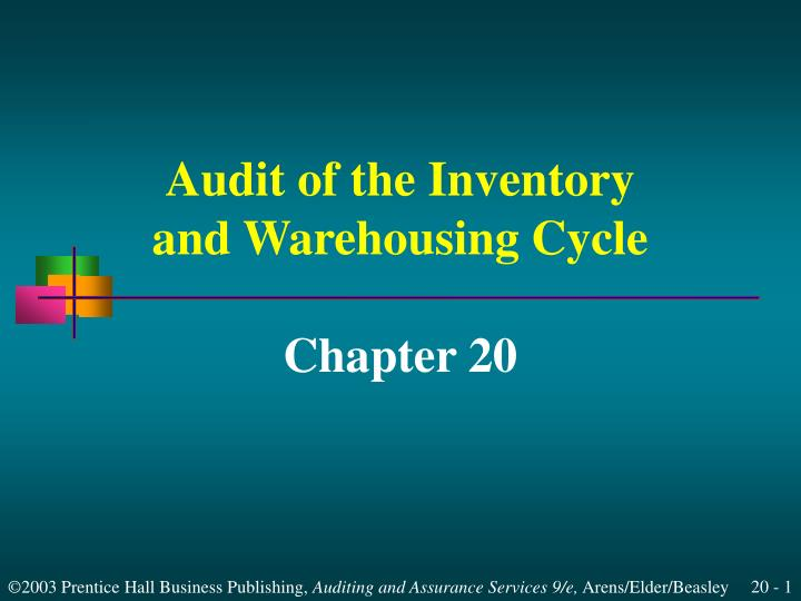 audit of the inventory and warehousing cycle n.