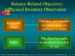 balance related objectives physical inventory observation2