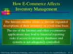 how e commerce affects inventory management