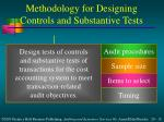 methodology for designing controls and substantive tests1