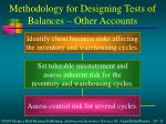 methodology for designing tests of balances other accounts