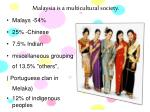 malaysia is a multicultural society