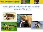 viii predator prey