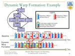 dynamic warp formation example