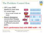 the problem control flow
