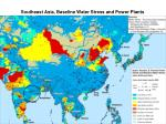 southeast asia baseline water stress and power plants