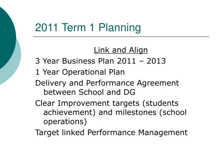 2011 term 1 planning