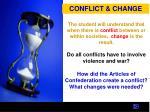 conflict change