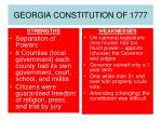 georgia constitution of 1777