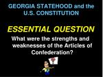 georgia statehood and the u s constitution1