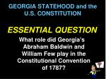 georgia statehood and the u s constitution2