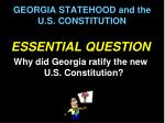 georgia statehood and the u s constitution3