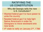 ratifying the us constitution