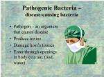 pathogenic bacteria disease causing bacteria