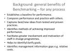 background general benefits of benchmarking for any process