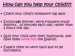 how can you help your child