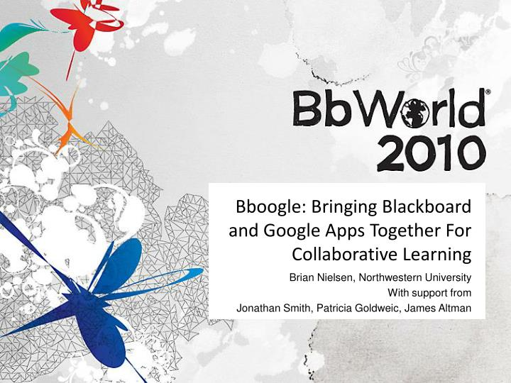 bboogle bringing blackboard and google apps together for collaborative learning n.
