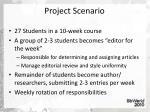 project scenario