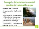 senegal adaptation to coastal erosion in vulnerable areas