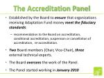 the accreditation panel
