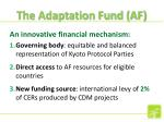 the adaptation fund af