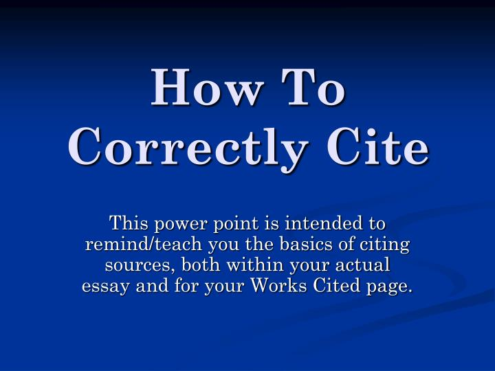 how to correctly cite n.