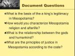 document questions