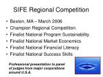 sife regional competition